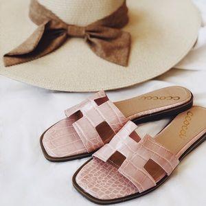 Pink Croc Slides Sandals